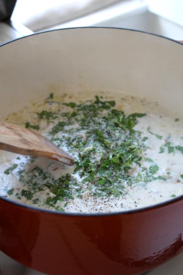 added parsley