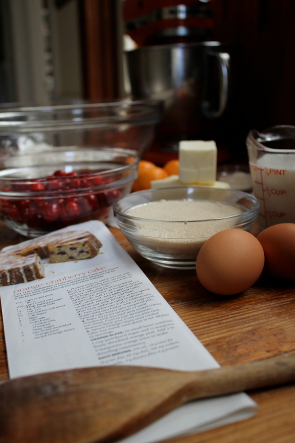 cranberry-orange cake ingredients