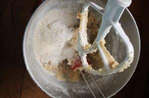 2.add flour