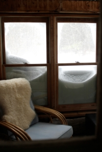 snowy windows