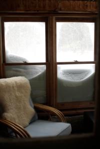 snowy windows