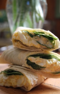 5.egg salad roll-ups