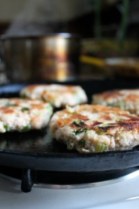 fish cakes frying