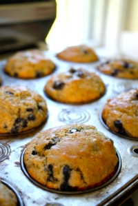 baked muffins:browned