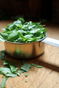 chopped basil