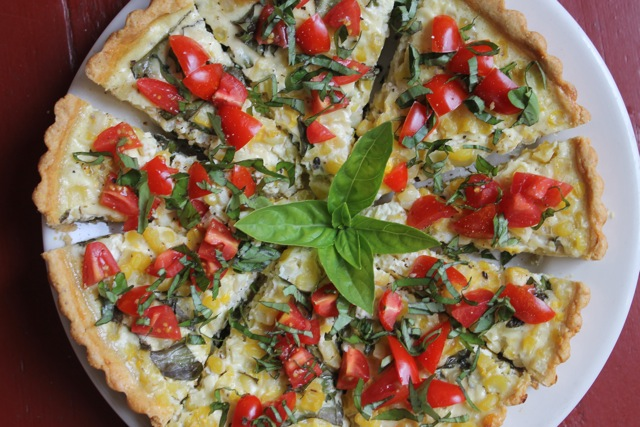 fresh corn, basil and tomato tart…perfect for a maine lobster bake ...