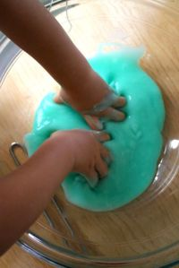 hands in slime