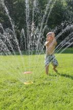 fun with found sprinkler