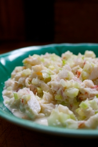crab salad prepared